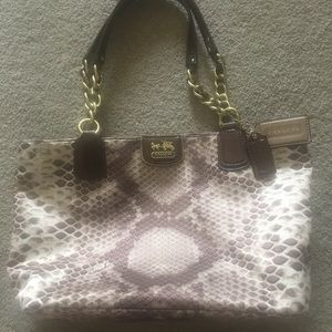 Coach #20482 python exotic sateen print